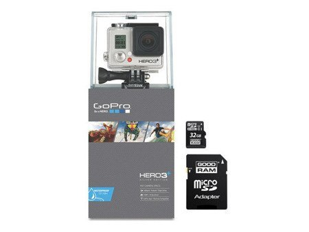 Kamera GoPro Hero3+ PLUS Silver Edition + GOODRAM microSD 32GB UHS-I class