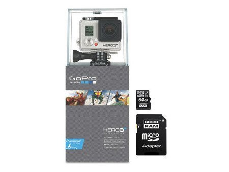 Kamera GoPro Hero3+ PLUS Silver Edition + GOODRAM microSD 64GB UHS-I class
