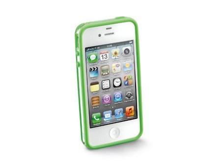 Opaska anti-shock Bumper do iPhone 4/4S zielona + 2 folie ochronne